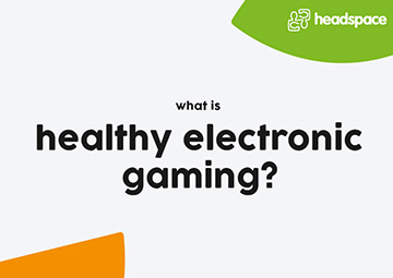 HEALTHY ELECTRONIC GAMING