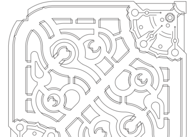 SUMMONERS RIFT MAP - WIREFRAME