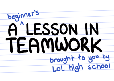 A BEGINNERS LESSON IN TEAMWORK